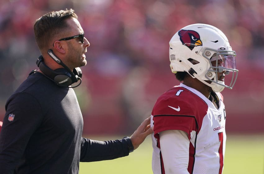 Kliff Kingsbury, Kyler Murray, Arizona Cardinals. (Photo by Thearon W. Henderson/Getty Images)