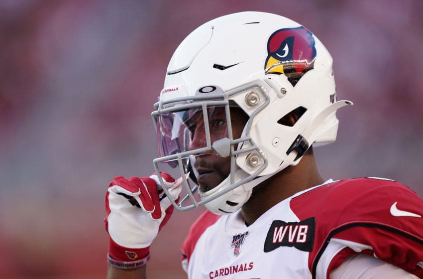 SANTA CLARA, CALIFORNIA - NOVEMBER 17: Running back David Johnson #31 of the Arizona Cardinals stands on the sidelines during the second half of the NFL game against the San Francisco 49ers at Levi's Stadium on November 17, 2019 in Santa Clara, California. (Photo by Thearon W. Henderson/Getty Images)