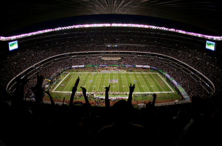 MEXICO CITY - OCTOBER 2: The fans cheer as the San Francisco 49ers score their first touchdown during the NFL game against the Arizona Cardinals at Estadio Azteca in Mexico City, Mexico. The Cardinals won 31-14. (Photo by Robert Laberge/Getty Images)