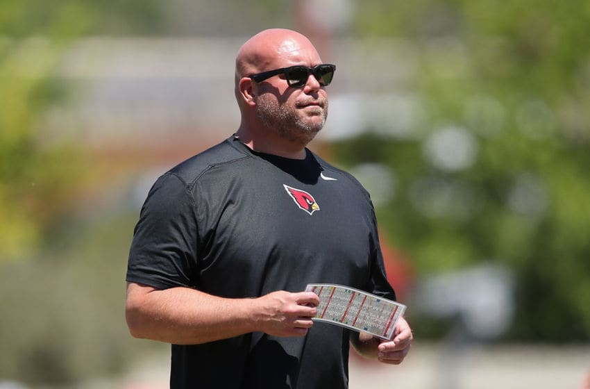 TEMPE, ARIZONA - MAY 29: General manager Steve Keim of the Arizona Cardinals looks on during team OTA's at the Dignity Health Arizona Cardinals Training Center on May 29, 2019 in Tempe, Arizona. (Photo by Christian Petersen/Getty Images)