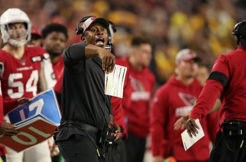 GLENDALE, ARIZONA - DECEMBER 08: Defensive coordinator Vance Joseph of the Arizona Cardinals reacts during the second half of the NFL game against the Pittsburgh Steelers at State Farm Stadium on December 08, 2019 in Glendale, Arizona. The Steelers defeated the Cardinals 23-17. (Photo by Christian Petersen/Getty Images)