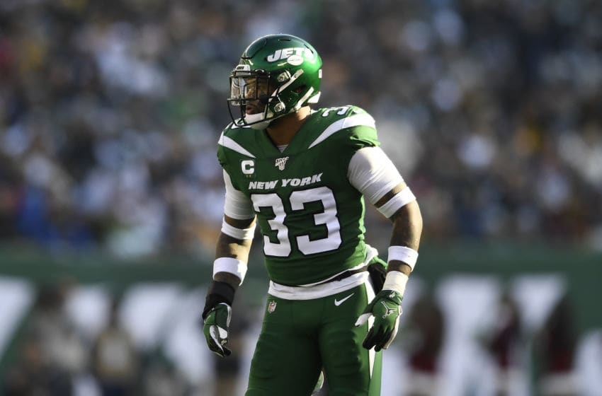 EAST RUTHERFORD, NEW JERSEY - DECEMBER 22: Jamal Adams #33 of the New York Jets looks on during the first half of the game against the Pittsburgh Steelers at MetLife Stadium on December 22, 2019 in East Rutherford, New Jersey. (Photo by Sarah Stier/Getty Images)