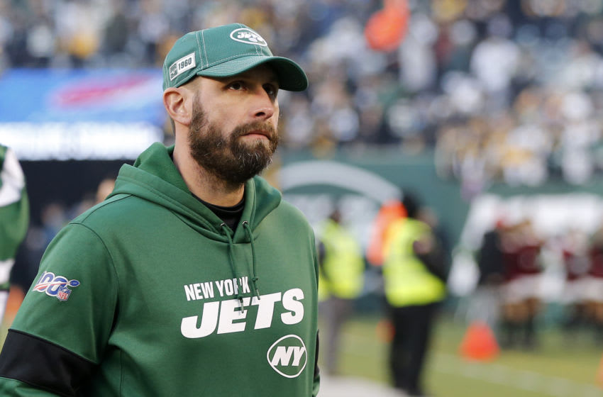 EAST RUTHERFORD, NEW JERSEY - DECEMBER 22: (NEW YORK DAILIES OUT) Head coach Adam Gase of the New York Jets after a game against the Pittsburgh Steelers at MetLife Stadium on December 22, 2019 in East Rutherford, New Jersey. The Jets defeated the Steelers 16-10. (Photo by Jim McIsaac/Getty Images)