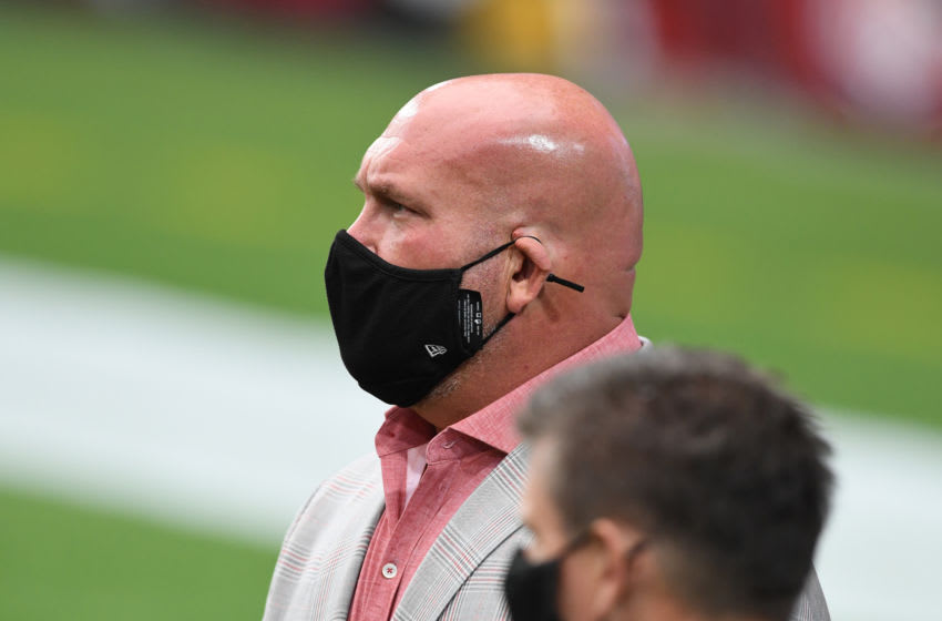 GLENDALE, ARIZONA - SEPTEMBER 20: General Manager Steve Keim of the Arizona Cardinals walks on the sidelines prior to a game against the Washington Football Team at State Farm Stadium on September 20, 2020 in Glendale, Arizona. Cardinals won 30-15. (Photo by Norm Hall/Getty Images)