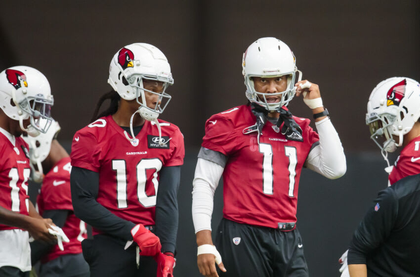 (Photo by Mark J. Rebilas-USA TODAY Sports) DeAndre Hopkins and Larry Fitzgerald