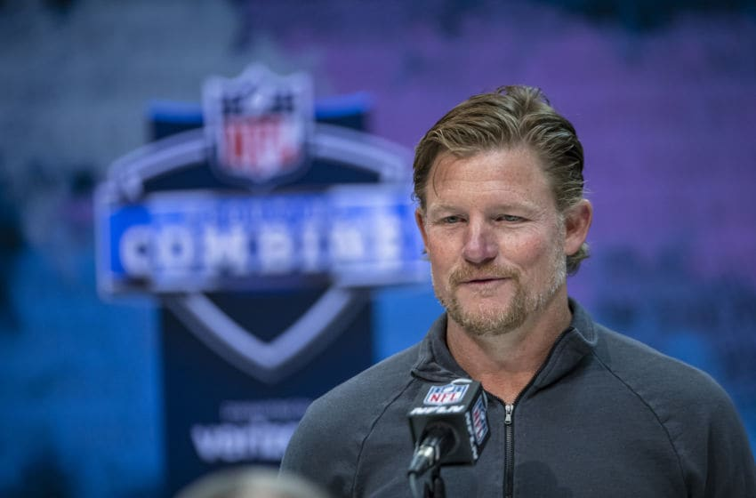 (Photo by Michael Hickey/Getty Images) *** Local Capture *** Les Snead