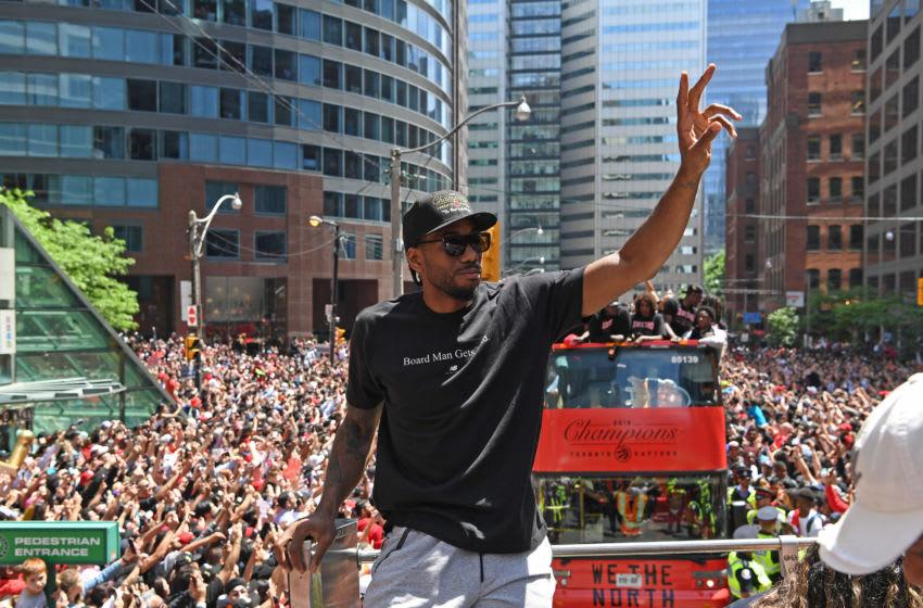Toronto Raptors - Kawhi Leonard (Photo by Ron Turenne/NBAE via Getty Images)
