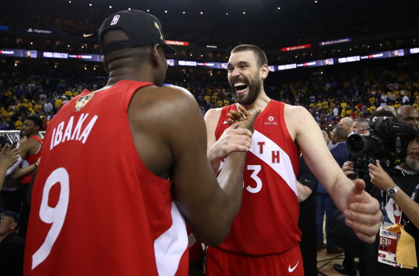 Toronto Raptors - Marc Gasol and Serge Ibaka (Photo by Ezra Shaw/Getty Images)