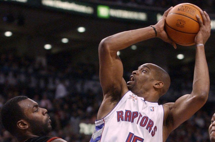 Toronto Raptors - Vince Carter (Photo credit should read J.P. MOCZULSKI/AFP/Getty Images)