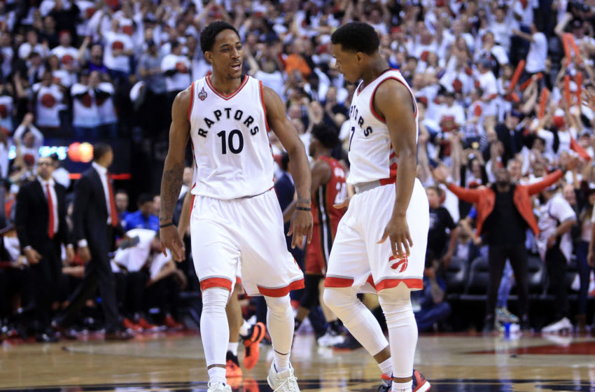 Toronto Raptors - DeMar DeRozan and Kyle Lowry (Photo by Vaughn Ridley/Getty Images)