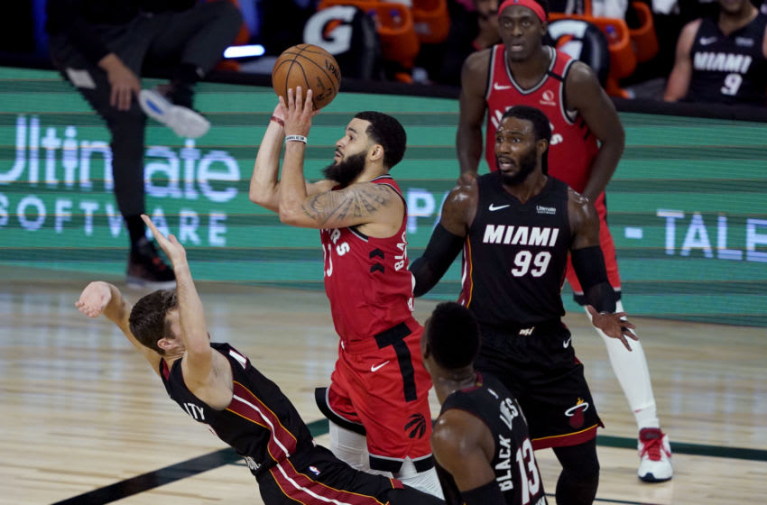 Toronto Raptors vs Heat, Fred VanVleet (Photo by Ashley Landis-Pool/Getty Images)