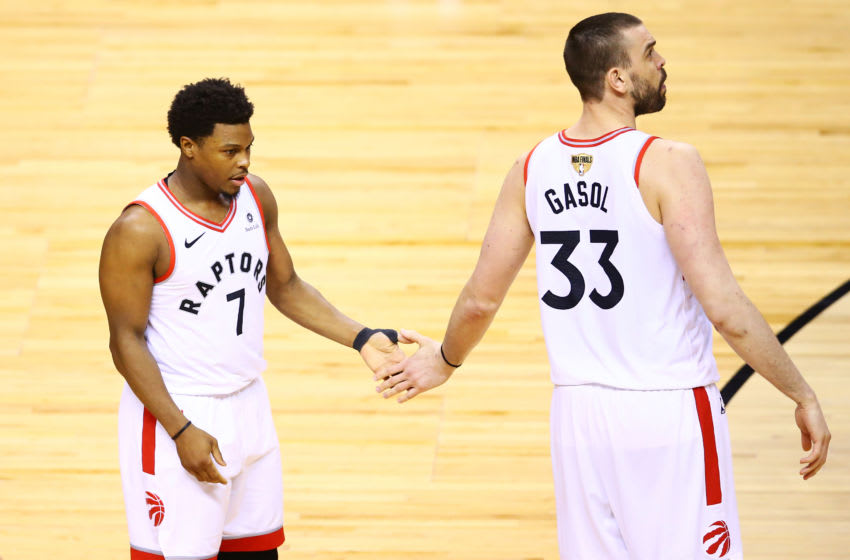 Toronto Raptors - Kyle Lowry and Marc Gasol (Photo by Vaughn Ridley/Getty Images)