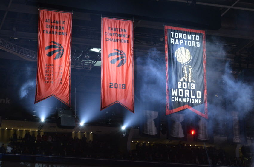 Championship Banner - Toronto Raptors(Photo by David Dow/NBAE via Getty Images)