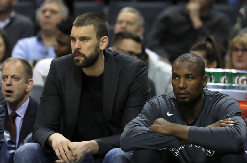 Toronto Raptors - Marc Gasol, and Serge Ibaka (Photo by Streeter Lecka/Getty Images)