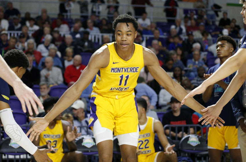 FORT MYERS, FLORIDA - DECEMBER 19: Scottie Barnes #11 of Montverde Academy. (Photo by Michael Reaves/Getty Images)