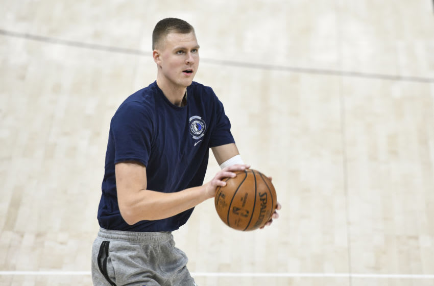 SALT LAKE CITY, UT - JANUARY 27: Kristaps Porzingis #6 of the Dallas Mavericks (Photo by Alex Goodlett/Getty Images)