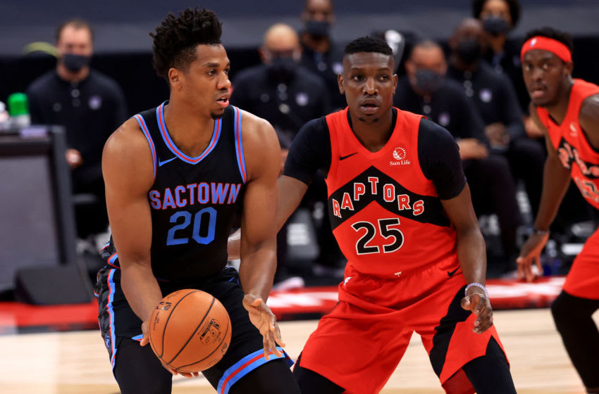 TAMPA, FLORIDA - JANUARY 29: Hassan Whiteside #20 of the Sacramento Kings (Photo by Mike Ehrmann/Getty Images)