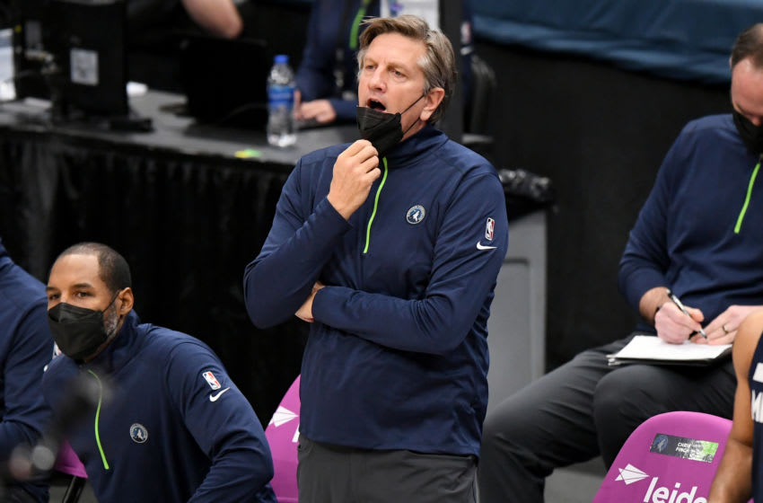 WASHINGTON, DC - FEBRUARY 27: Minnesota Timberwolves head coach Chris Finch (Photo by Will Newton/Getty Images)
