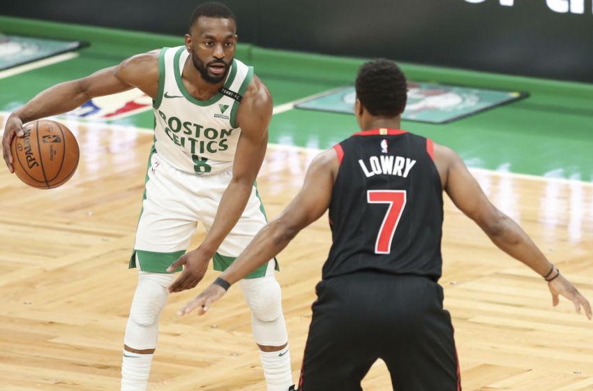 BOSTON, MA - MARCH 04: Kemba Walker #8 of the Boston Celtics (Photo by Adam Glanzman/Getty Images)
