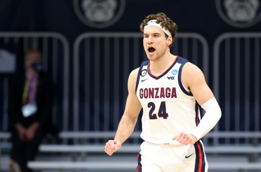 INDIANAPOLIS, INDIANA - MARCH 22: Corey Kispert #24 of the Gonzaga Bulldogs (Photo by Andy Lyons/Getty Images)
