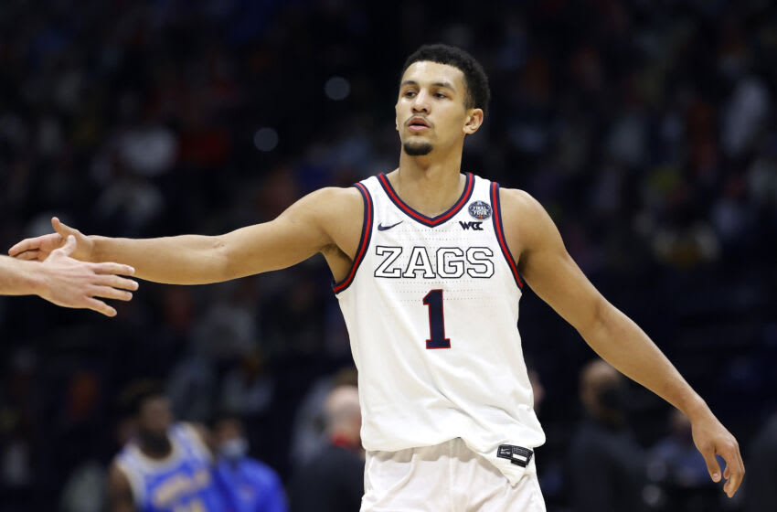 INDIANAPOLIS, INDIANA - APRIL 03: Jalen Suggs #1 of the Gonzaga Bulldogs (Photo by Jamie Squire/Getty Images)