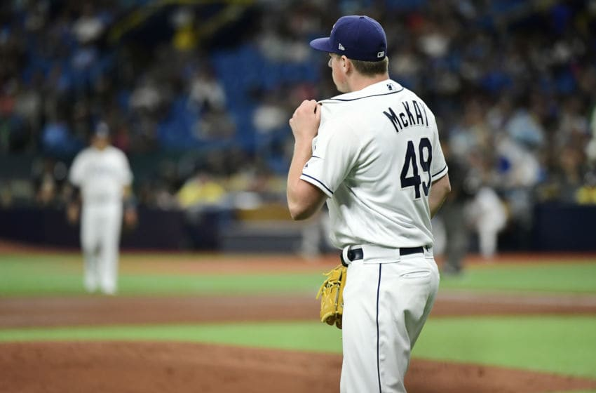 Brendan McKay of the Tampa Bay Rays (Photo by Julio Aguilar/Getty Images)