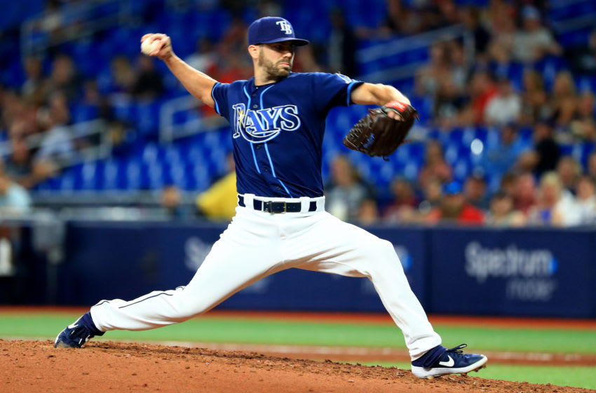 Austin Pruitt of the Tampa Bay Rays (Photo by Mike Ehrmann/Getty Images)