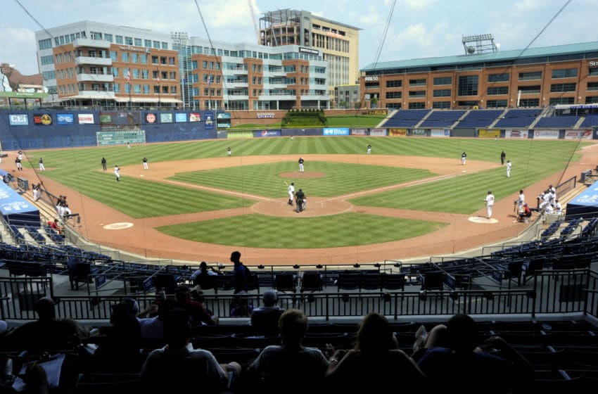 DURHAM, NC - JULY 28: The Chicago White Sox play the Most Valuable Prospects during the championship game of the 2011 Breakthrough Series at the Durham Bulls Athletic Park on July 28, 2011 in Durham, North Carolina. Most Valuable Prospects won 17-2 over the Chicago White Sox. (Photo by Sara D. Davis/Getty Images)