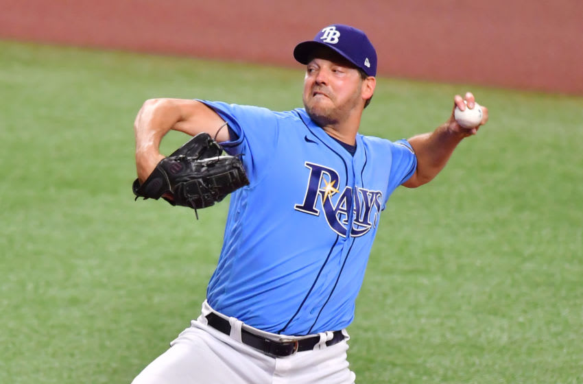 Rich Hill Tampa Bay Rays (Photo by Julio Aguilar/Getty Images)
