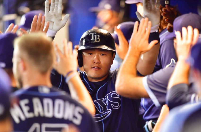 Ji-Man Choi Tampa Bay Rays (Photo by Julio Aguilar/Getty Images)