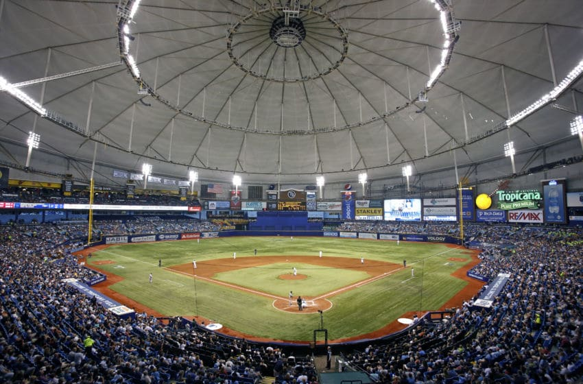ST. PETERSBURG, FL - APRIL 17: General view as baseball fans watch the Tampa Bay Rays take on the New York Yankees during the sixth inning of a game on April 17, 2014 at Tropicana Field in St. Petersburg, Florida. (Photo by Brian Blanco/Getty Images)
