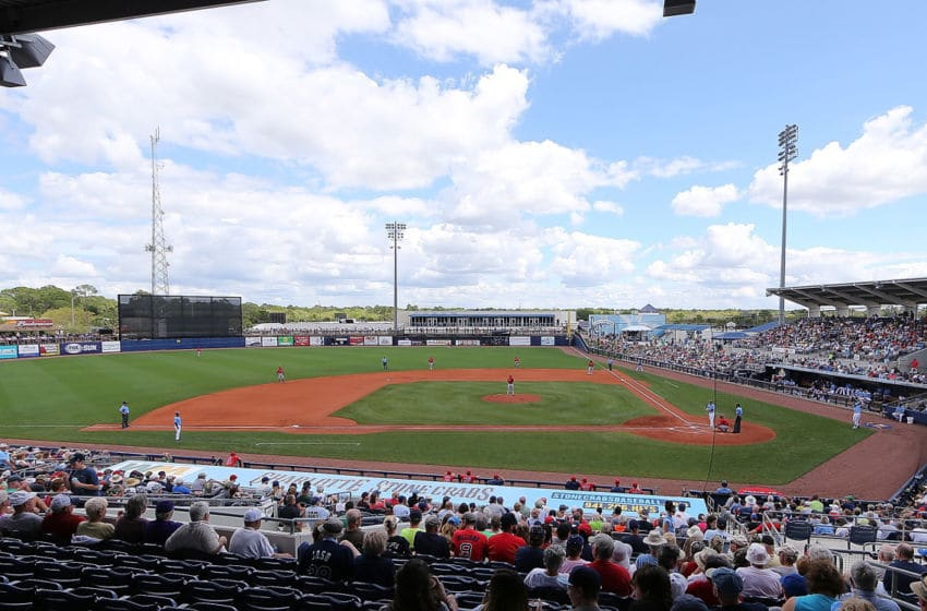 PORT CHARLOTTE, FL - MARCH 29: A general view of the Charlotte Sports Park during the Spring Training Game between the Boston Red Sox and the Tampa Bay Rays on March 30, 2016 at the Charlotte Sports Park, Port Charlotte, Florida. The Rays defeated the Red Sox 4-3.(Photo by Leon Halip/Getty Images)