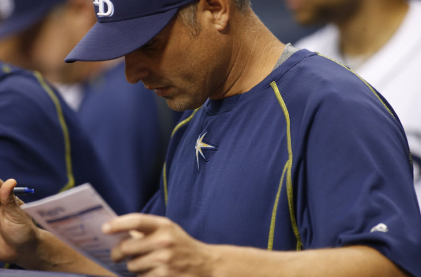 Kevin Cash of the Tampa Bay Rays (Photo by Brian Blanco/Getty Images)