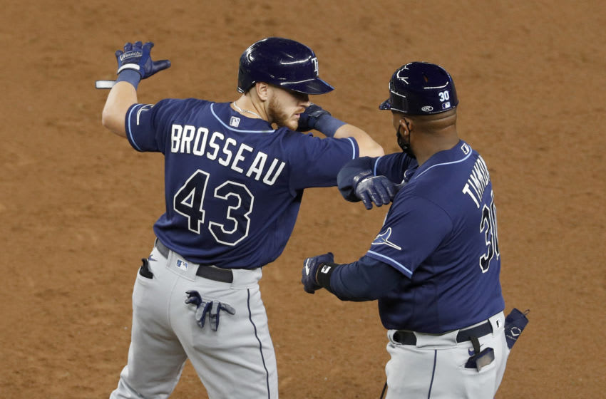 The Tampa Bay Rays celebrate. (Photo by Jim McIsaac/Getty Images)