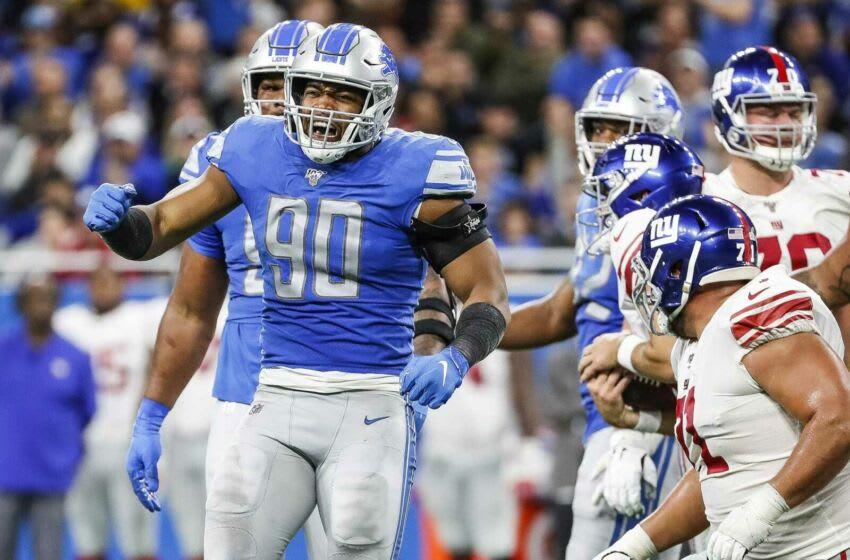 Lions defensive end Trey Flowers New York Giants Vs Detroit Lions