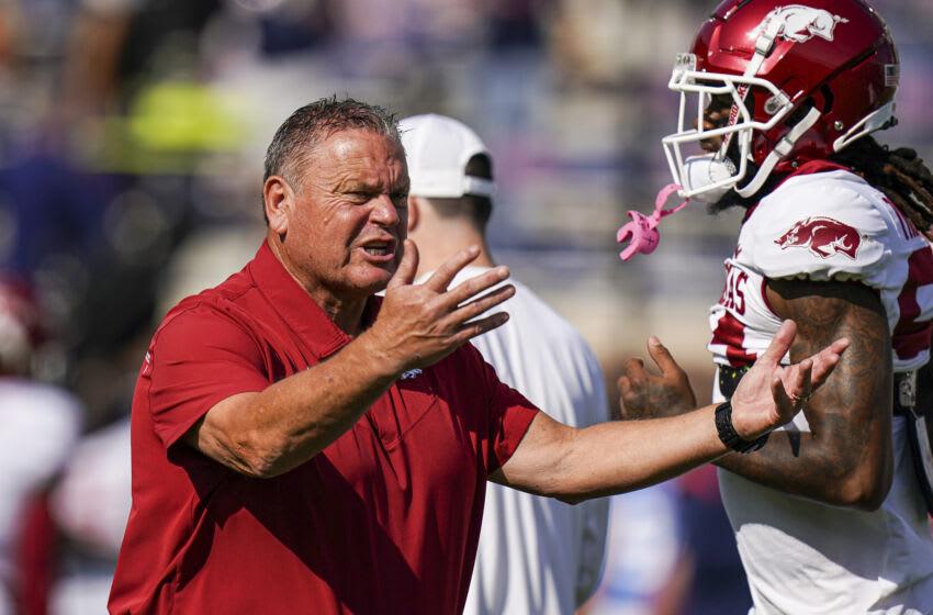 Sam Pittman, Arkansas Football Coach (Marvin Gentry-USA TODAY Sports)