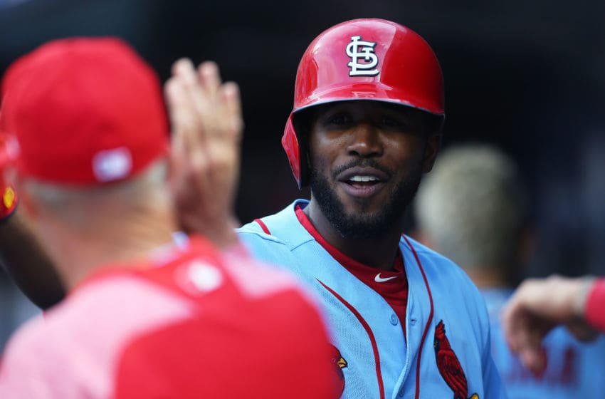NEW YORK, NEW YORK - JUNE 15: Dexter Fowler #25 of the St. Louis Cardinals celebrates after hitting a home run to right field in the first inning against the New York Mets at Citi Field on June 15, 2019 in New York City. (Photo by Mike Stobe/Getty Images)