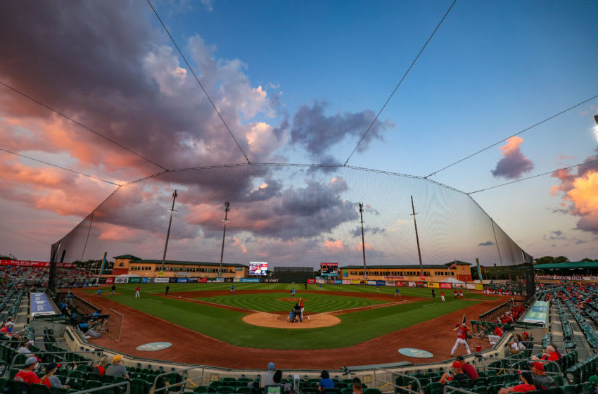 JUPITER, FLORIDA - MARCH 18: A general view of the ballpark during the spring training game between the St. Louis Cardinals and the Miami Marlins at Roger Dean Chevrolet Stadium on March 18, 2021 in Jupiter, Florida. (Photo by Mark Brown/Getty Images)