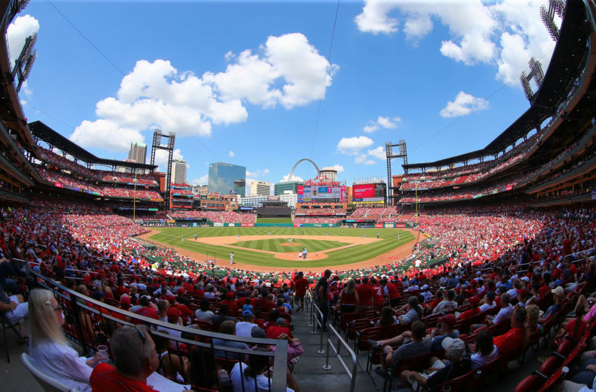 ST. LOUIS, MO - JUNE 19: A general view of Busch Stadium during a game between the St. Louis Cardinals and the Texas Rangers on June 19, 2016 in St. Louis, Missouri. (Photo by Dilip Vishwanat/Getty Images)
