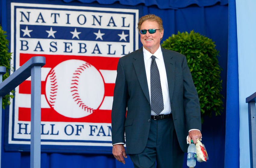 COOPERSTOWN, NY - JULY 24: Hall of Famer Steve Carlton is introduced at Clark Sports Center during the Baseball Hall of Fame induction ceremony on July 24, 2016 in Cooperstown, New York. (Photo by Jim McIsaac/Getty Images)