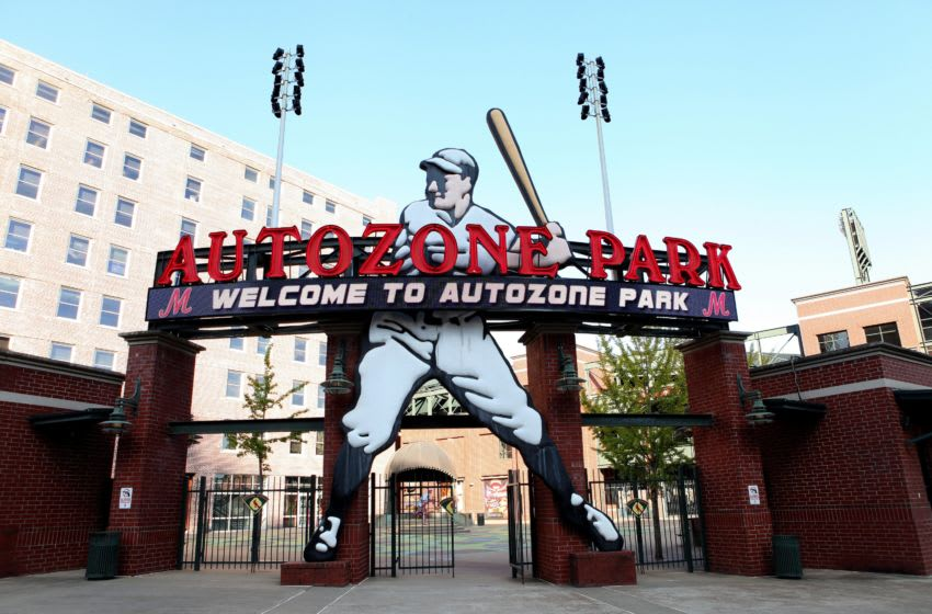 MEMPHIS - OCTOBER 03: AutoZone Park, home of the Memphis Redbirds baseball team in Memphis, Tennessee on October 3, 2016. (Photo By Raymond Boyd/Getty Images)