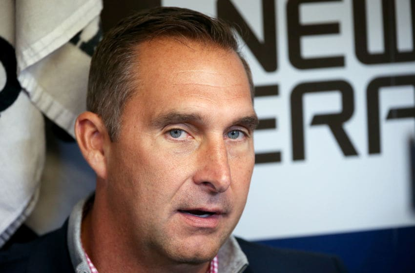 John Mozeliak of the St. Louis Cardinals speaks to the media before the game against the Milwaukee Brewers at Miller Park on April 20, 2017 in Milwaukee, Wisconsin. (Photo by Dylan Buell/Getty Images)
