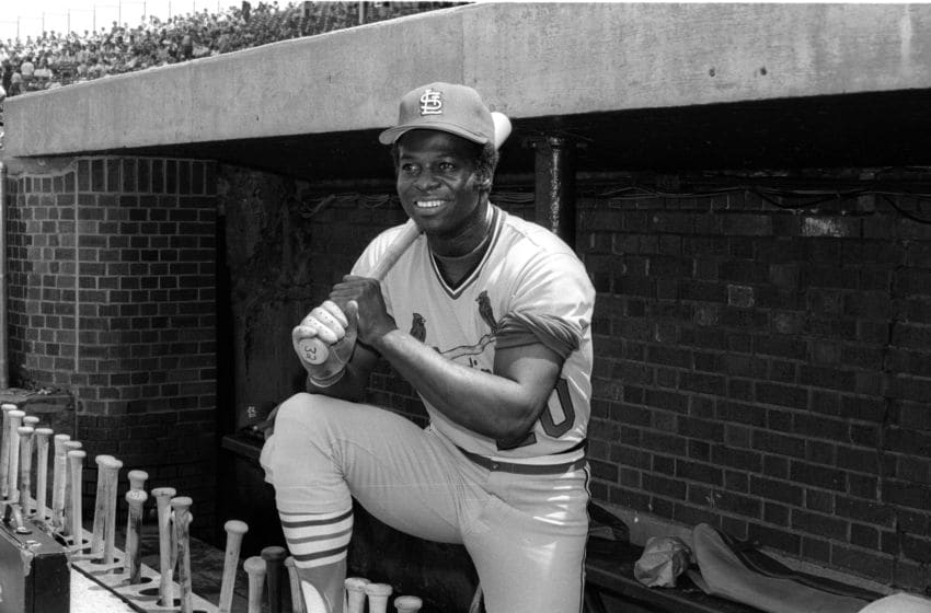 CHICAGO - UNDATED 1978: Lou Brock of the St Louis Cardinals poses before a MLB game at Wrigley Field in Chicago, Illinois. Brock played for the St Louis Cardinals from 1964-79. (Photo by Ron Vesely/Getty Images)