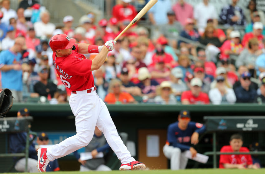 JUPITER, FL - MARCH 07: Paul Goldschmidt #46 of the St. Louis Cardinals walks off the field against the Houston Astros during a spring training baseball game at Roger Dean Chevrolet Stadium on March 7, 2020 in Jupiter, Florida. The Cardinals defeated the Astros 5-1. (Photo by Rich Schultz/Getty Images)