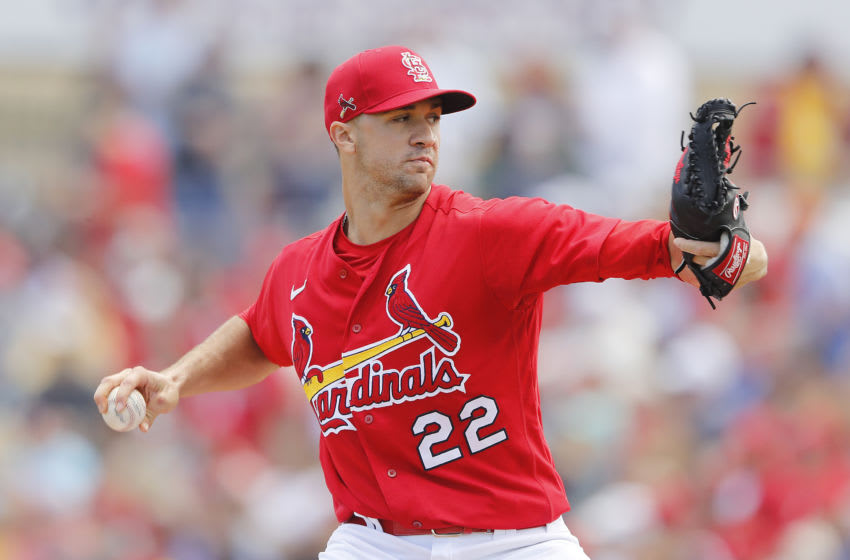 Jack Flaherty #22 of the St. Louis Cardinals - (Photo by Michael Reaves/Getty Images)
