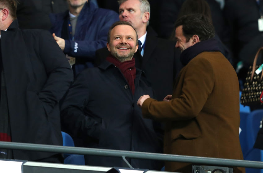 MANCHESTER, ENGLAND - JANUARY 29: Ed Woodward the executive vice-chairman of Manchester United looks on during the Carabao Cup Semi Final match between Manchester City and Manchester United at Etihad Stadium on January 29, 2020 in Manchester, England. (Photo by Alex Livesey - Danehouse/Getty Images)
