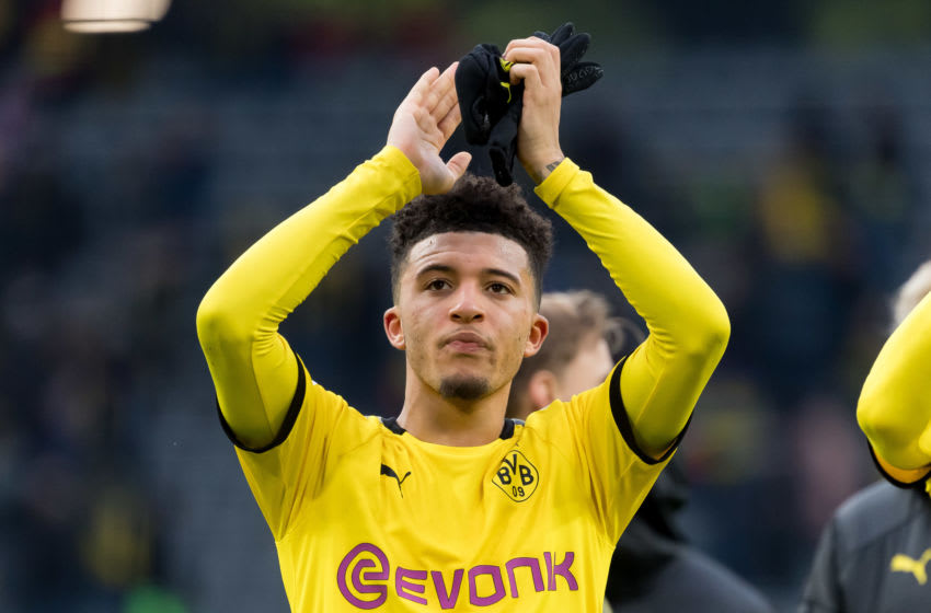 Jadon Sancho, Borussia Dortmund. (Photo by Alex Gottschalk/DeFodi Images via Getty Images)