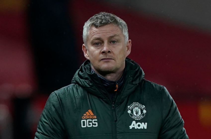 Ole Gunnar Solskjaer, Manchester United.(Photo by Tim Keeton / POOL / AFP) / RESTRICTED TO EDITORIAL USE. No use with unauthorized audio, video, data, fixture lists, club/league logos or 'live' services. Online in-match use limited to 120 images. An additional 40 images may be used in extra time. No video emulation. Social media in-match use limited to 120 images. An additional 40 images may be used in extra time. No use in betting publications, games or single club/league/player publications. / (Photo by TIM KEETON/POOL/AFP via Getty Images)