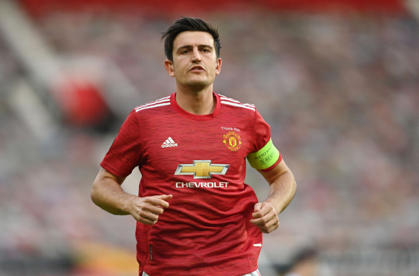 Harry Maguire, Manchester United. (Photo by Michael Regan/Getty Images)