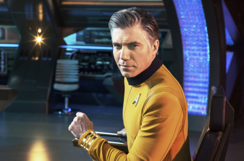 Anson Mount as Captain Pike of the CBS All Access series STAR TREK: DISCOVERY. Photo Cr: James Dimmock/CBS ©2018 CBS Interactive, Inc. All Rights Reserved.